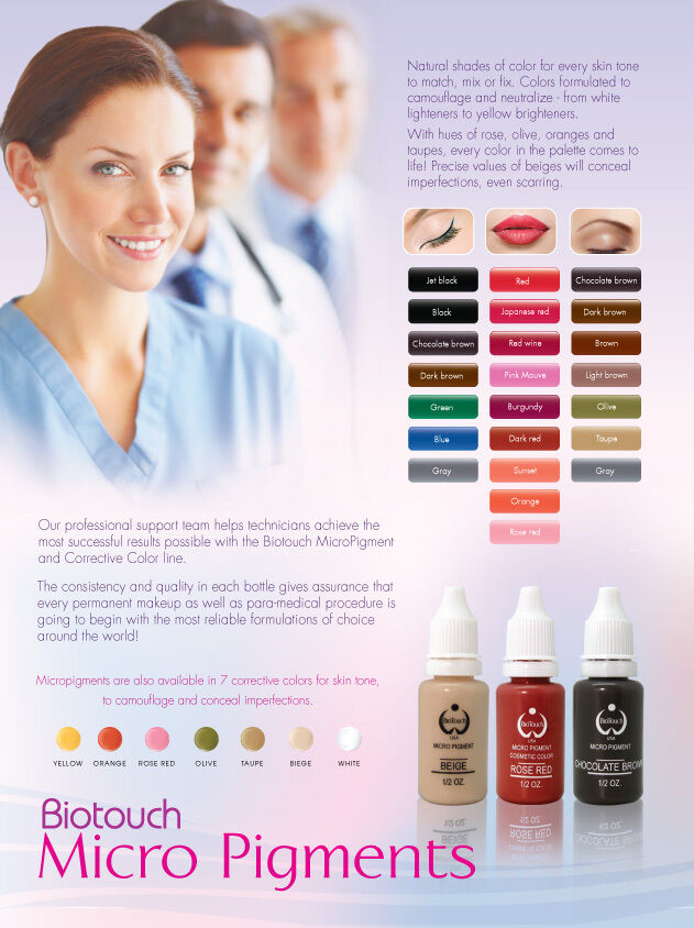Biotouch Permanent Makeup Micro Pigments Tattoo Color Ink