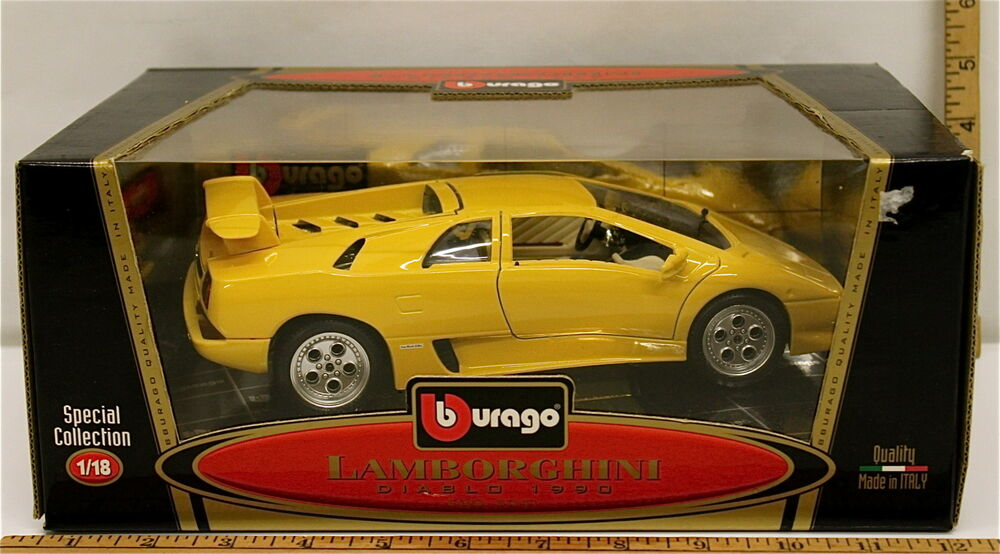burago lamborghini diablo 1990 1 18 scale special collection model 3041 nib ebay. Black Bedroom Furniture Sets. Home Design Ideas