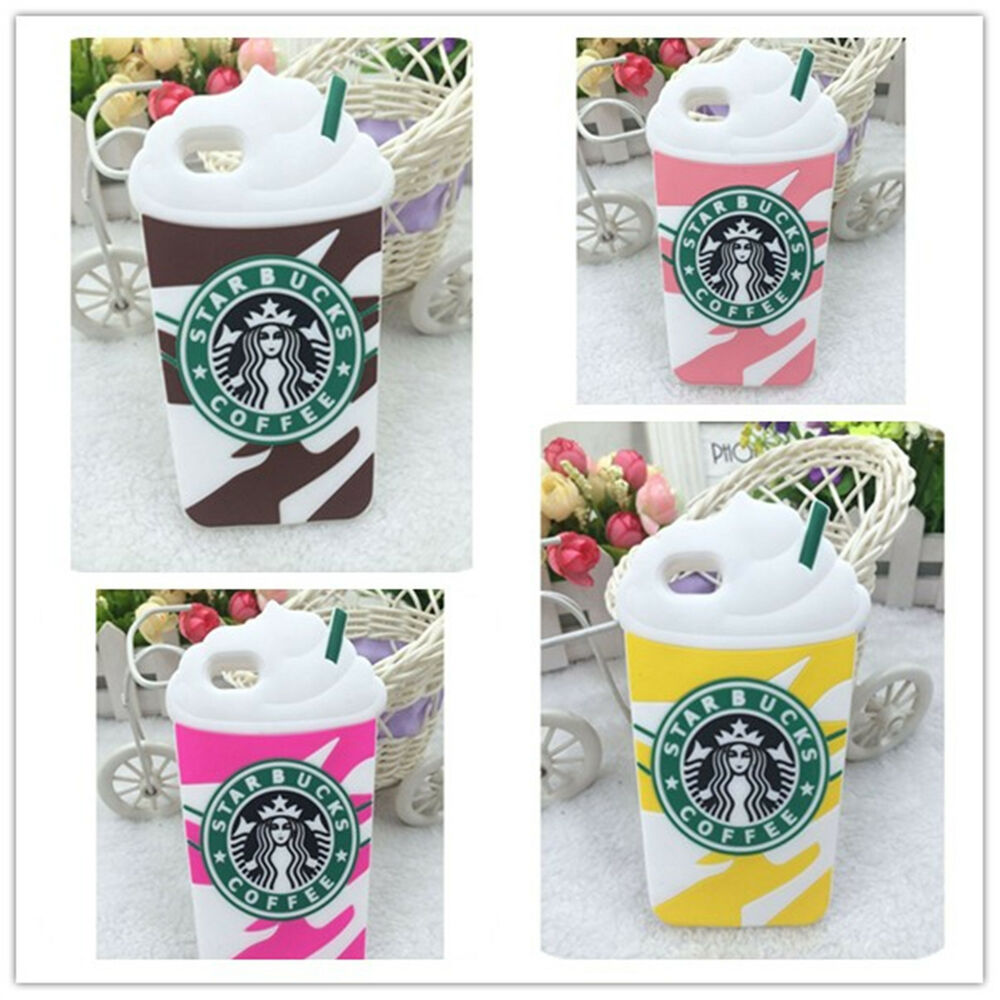 3D Starbucks Ice Cream Cup Soft Silicone Cover Case For ...  3D Starbucks Ic...