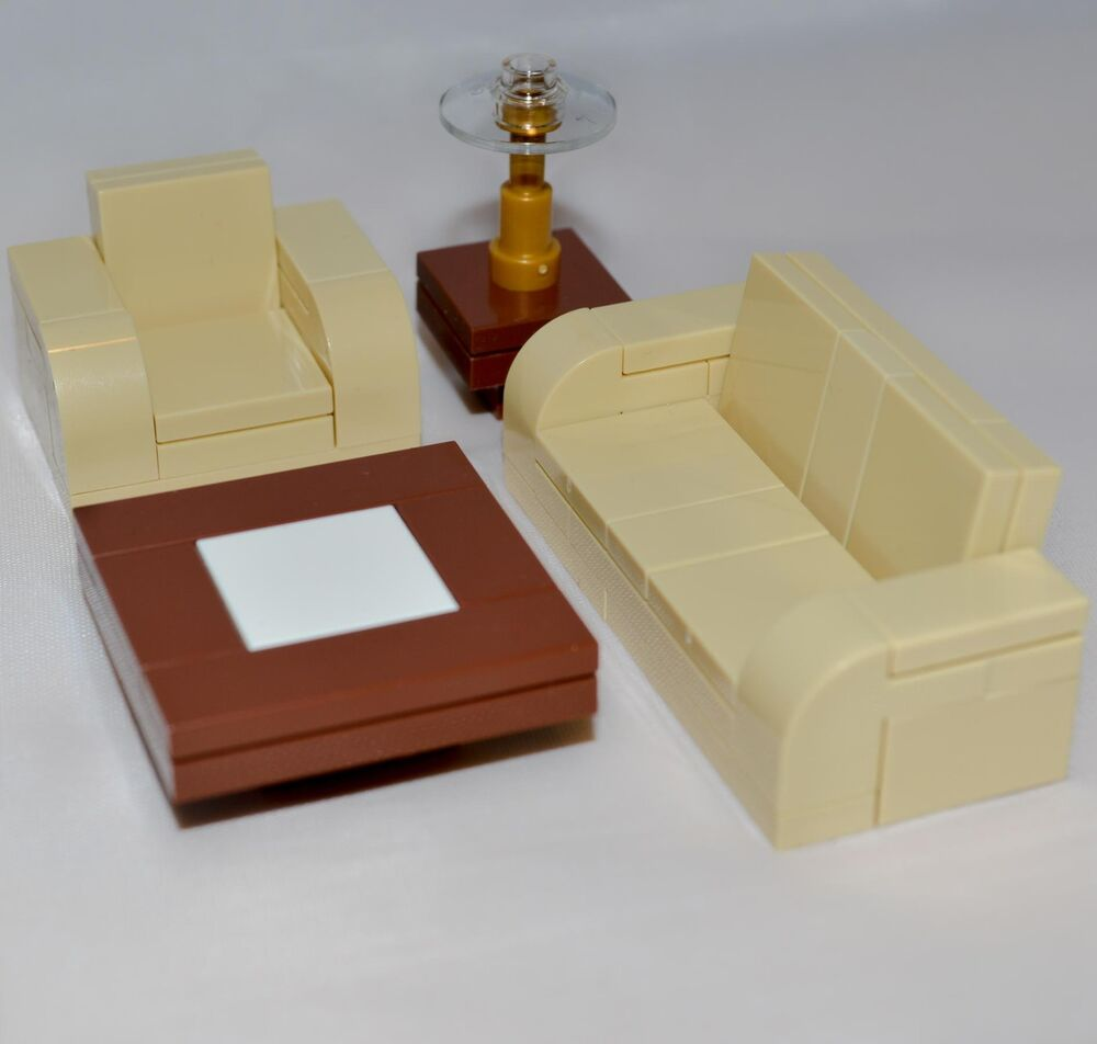 lego furniture tan seating set collection   couch chair