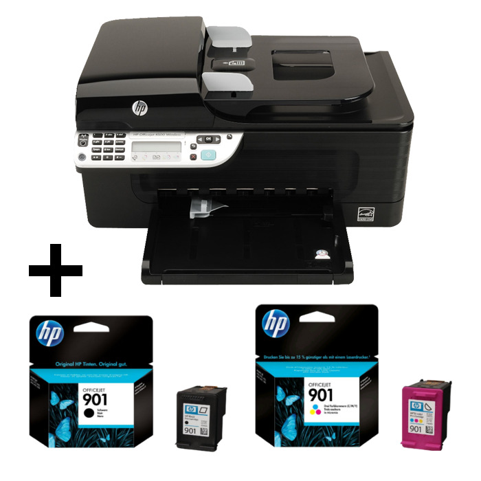 hp officejet 4500 all in one drucker g510n cn547a drucker scanner fax wlan ebay. Black Bedroom Furniture Sets. Home Design Ideas