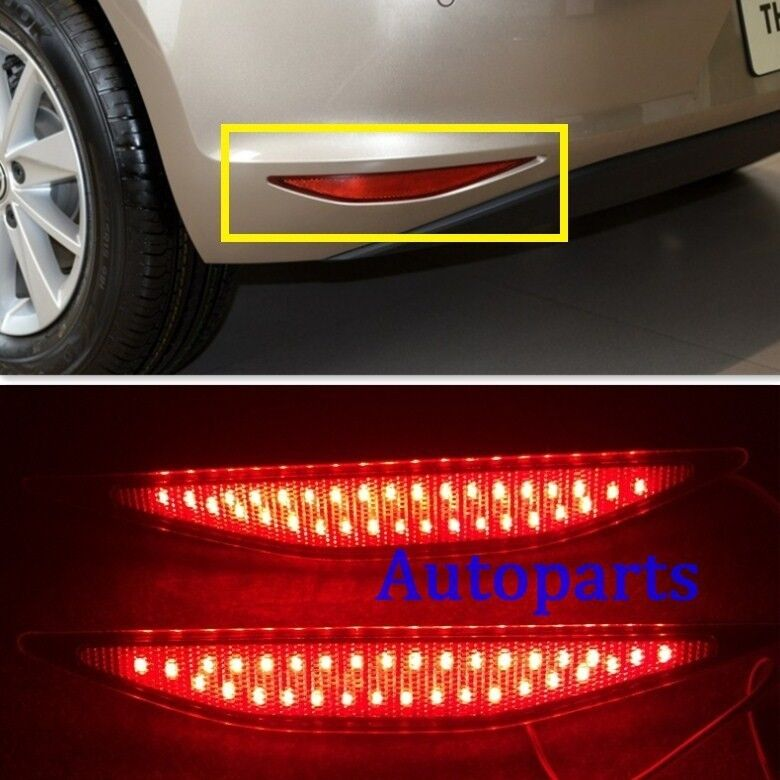 vw golf gti 7 vii mk7 2014 2015 red lens led rear bumper reflector light lamp ebay. Black Bedroom Furniture Sets. Home Design Ideas