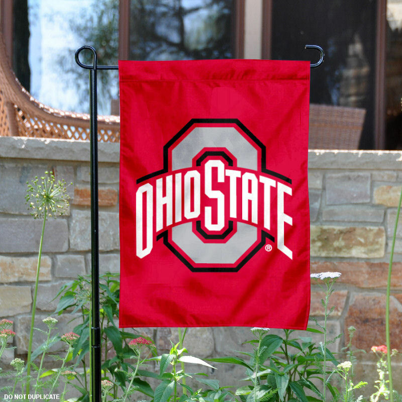 Ohio State University Red Garden Flag And Yard Banner Ebay
