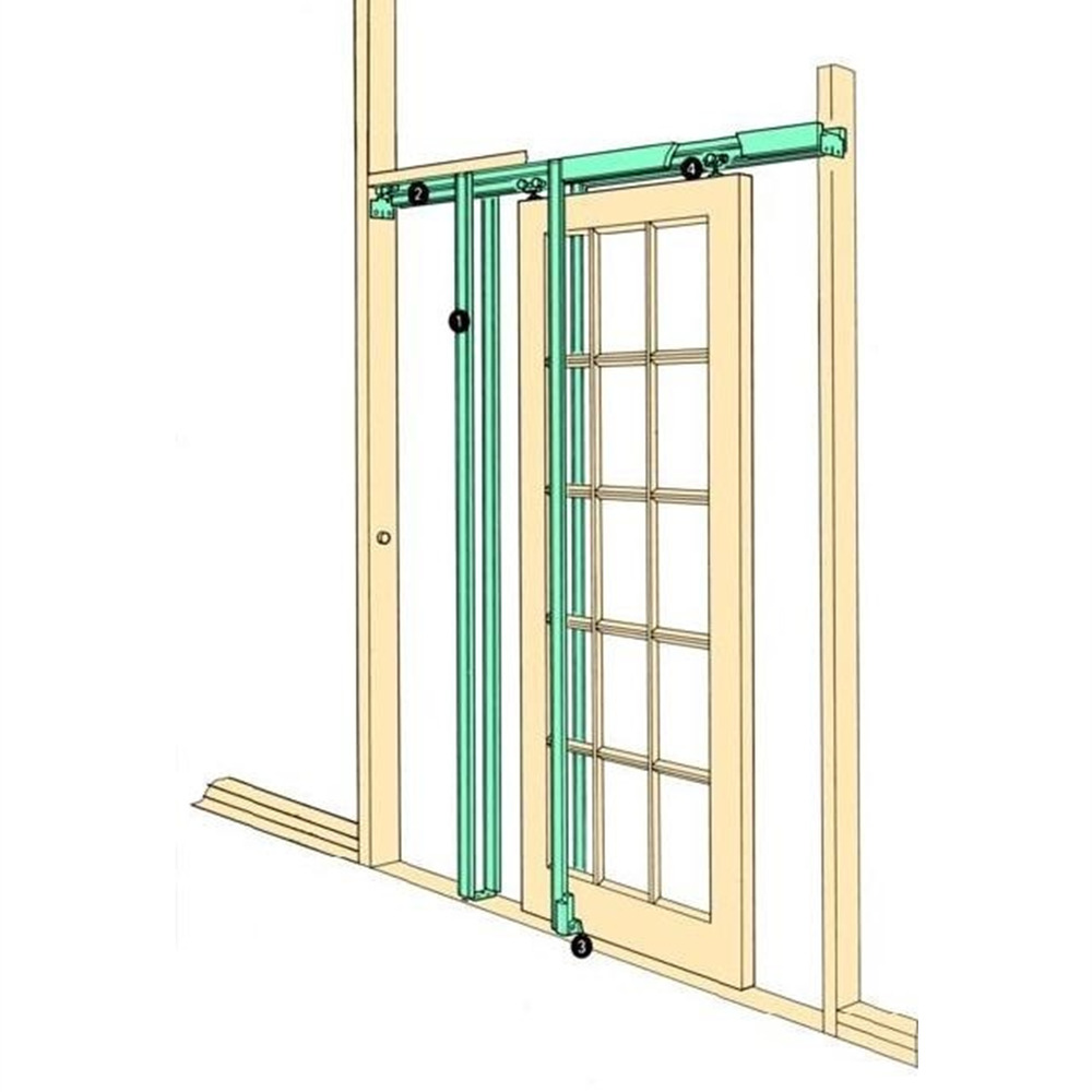 Coburn h30 hideaway sliding pocket door frame kit internal for Pocket sliding glass doors