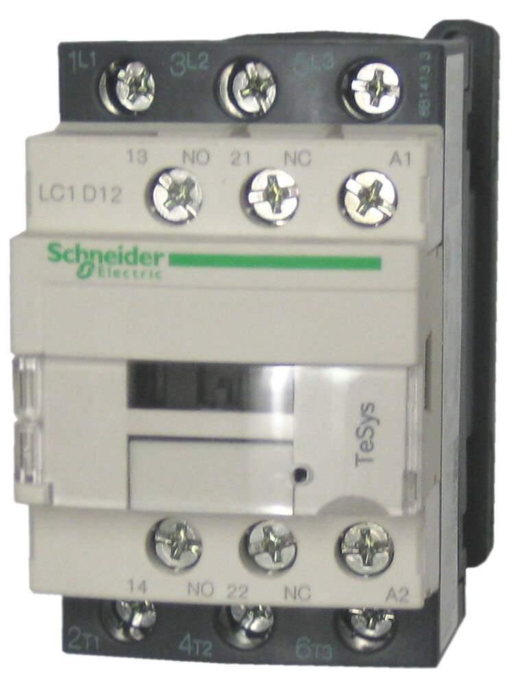 schneider electric lc1d12 g7 12 amp contactor 120v ac coil ebay