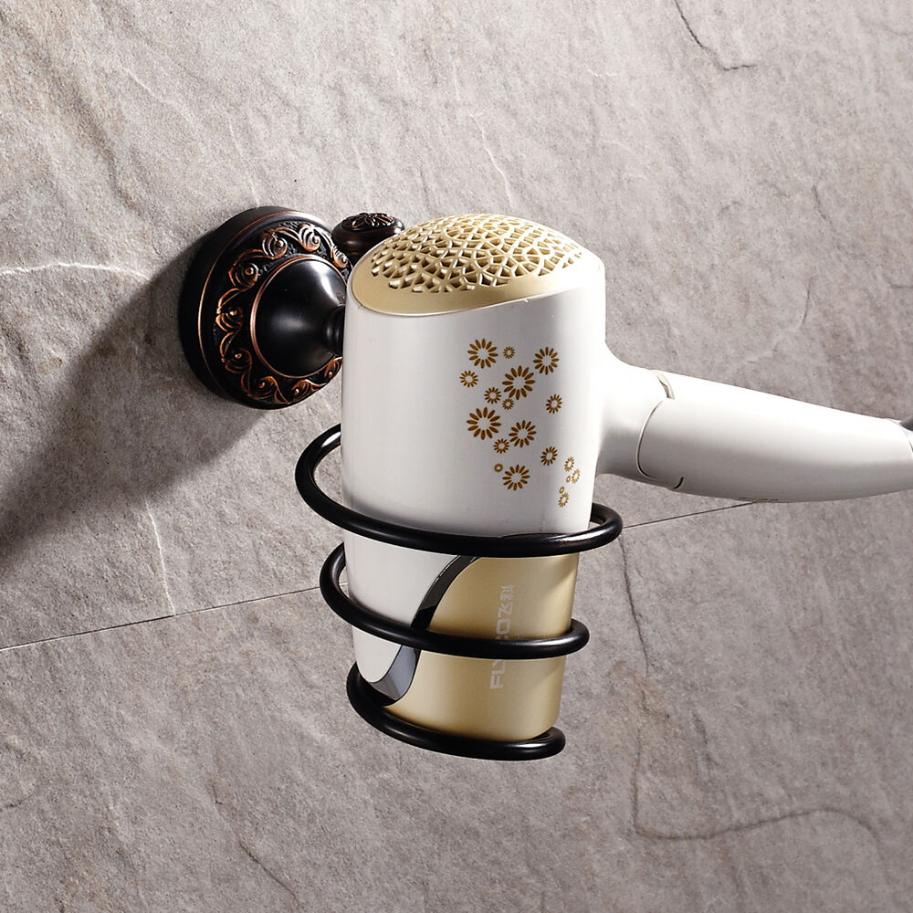 oil rubbed bronze curing iron hair dryer holder wall mounted k609 ebay. Black Bedroom Furniture Sets. Home Design Ideas