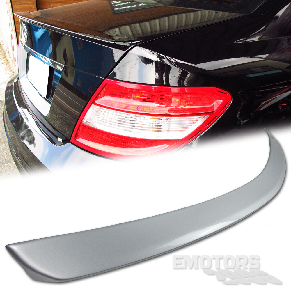 Painted mercedes benz w204 4d c class trunk spoiler a type for Mercedes benz car trunk organizer