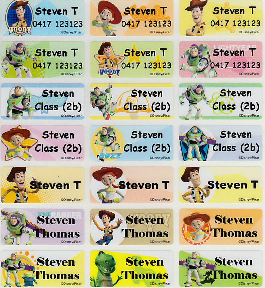 96 toy story personalised name label stickers 3013mm