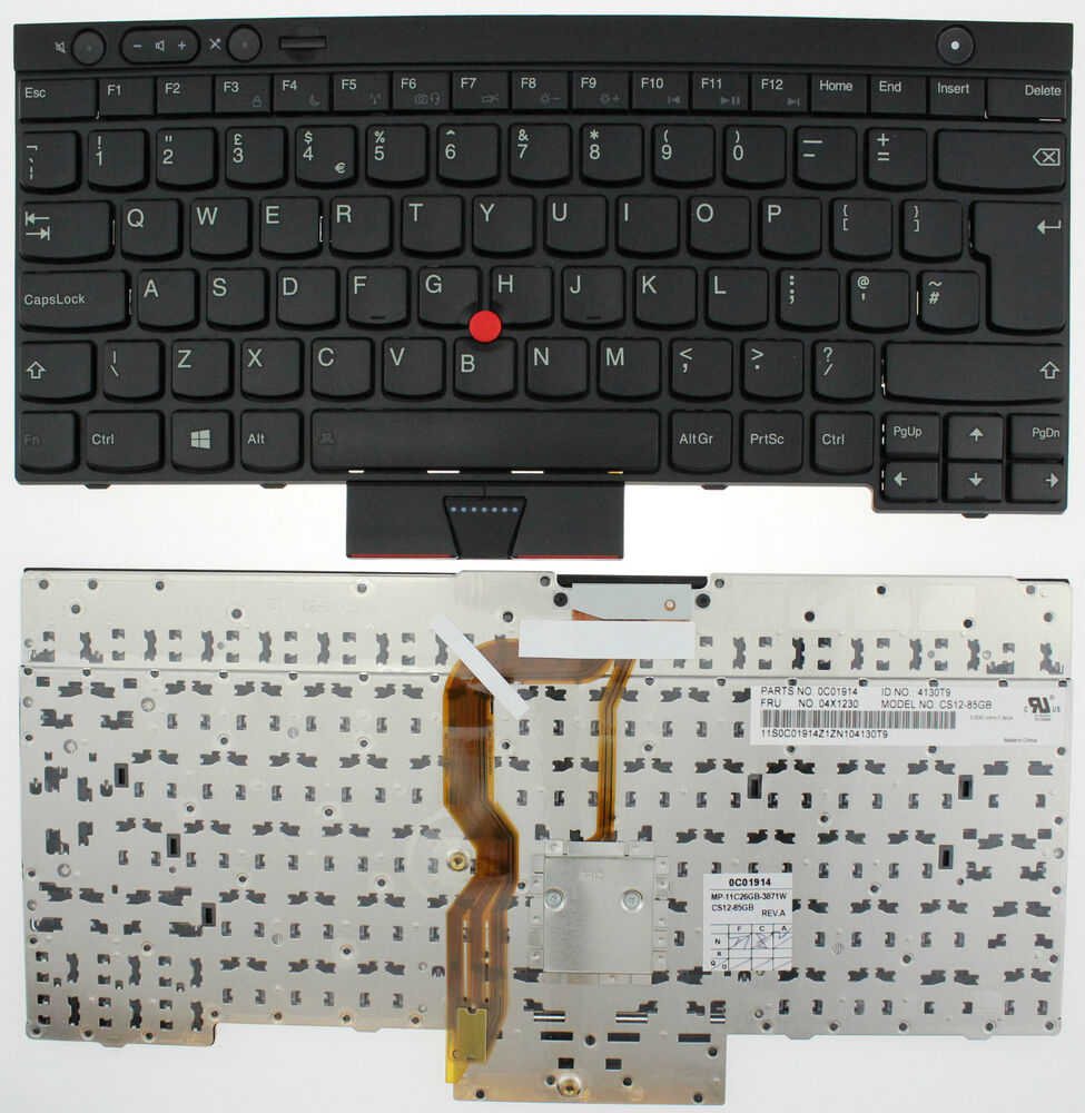 Lenovo Ibm Thinkpad T430 T430s X230 T530 W530 Keyboard Uk Layout 0c01914 F146