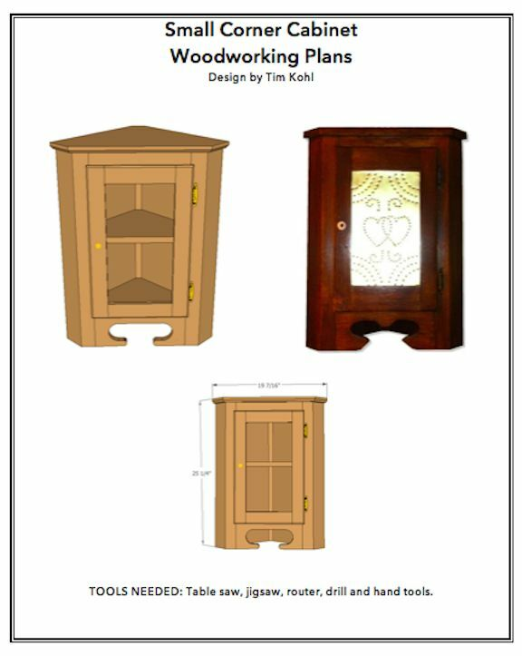 Small corner cabinet woodworking plans ebay for Wood hutch plans