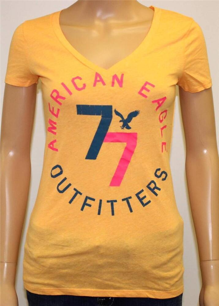 American eagle outfitters 77 graphic v neck tee womens for Eagles t shirt womens