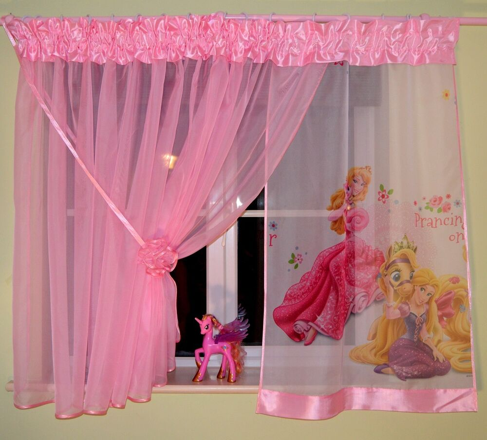 LOVELY GIRLS CURTAINS BEAUTIFUL CUTE PINK DISNEY FROZEN PRINCESS ...