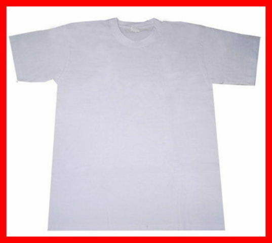 Plain white t shirt blank for sublimation heat press for Plain t shirts to print on