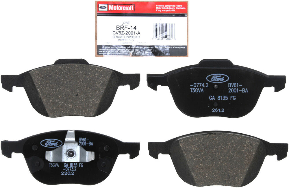 ford oem 12 14 focus brake front pads cv6z2001a ebay. Black Bedroom Furniture Sets. Home Design Ideas