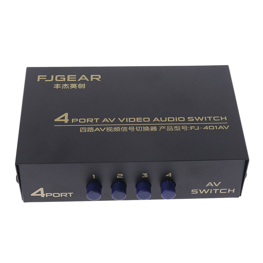 Audio Input Box : Hot input output port audio video av rca switch