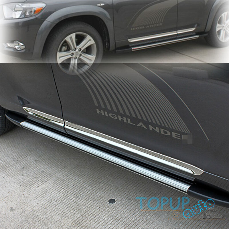 Toyota Sequoia Chrome Body Side Molding 2008: FOR08-10 HIGHLANDER KLUGER CHROME SIDE DOOR BODY MOLDING