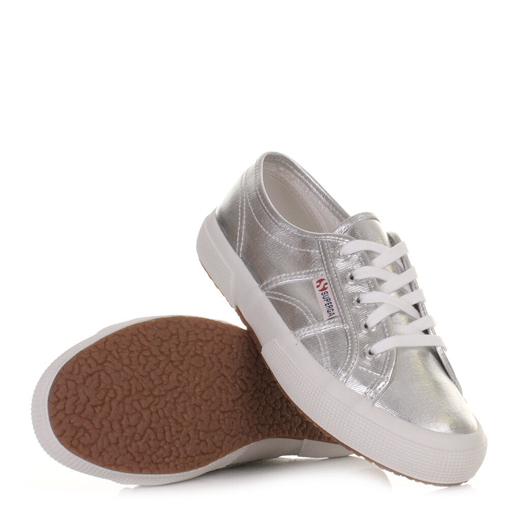 Silver Lace Flat Shoes