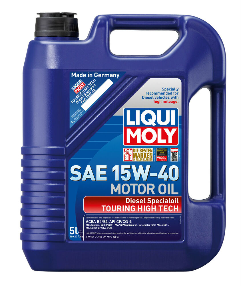 liqui moly touring high tech diesel special engine oil sae 15w 40 5l 2044 ebay. Black Bedroom Furniture Sets. Home Design Ideas