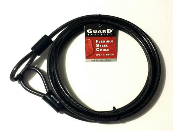 Steel Security Cable : Long steel cable guard security lock motorcycle