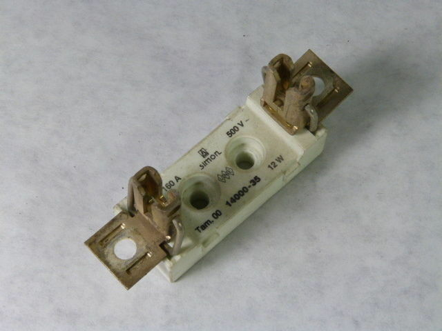Simon 14000 35 Ceramic Fuse Holder 1 Pole 500v Used Ebay