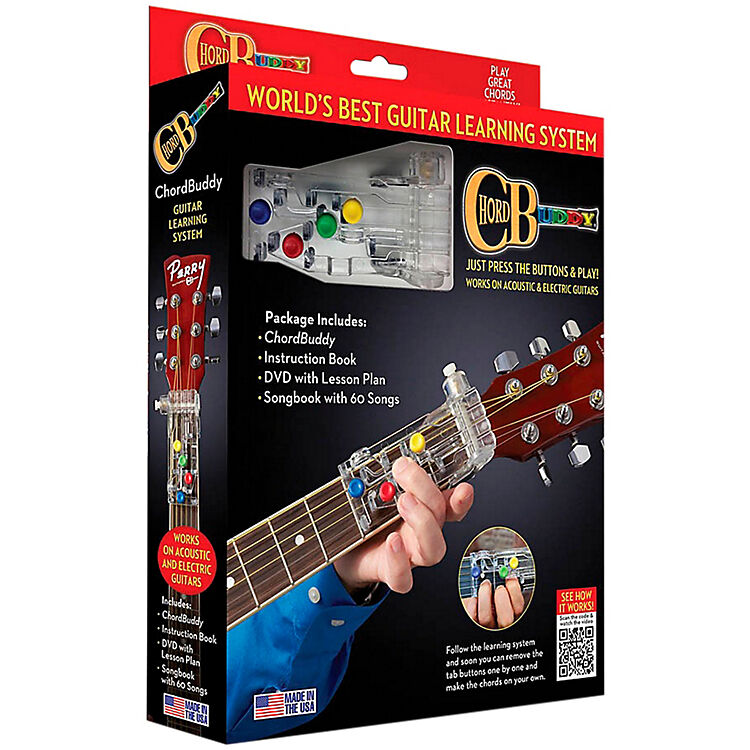 chordbuddy guitar device revised with songbook dvd chord buddy new 000139936 ebay. Black Bedroom Furniture Sets. Home Design Ideas