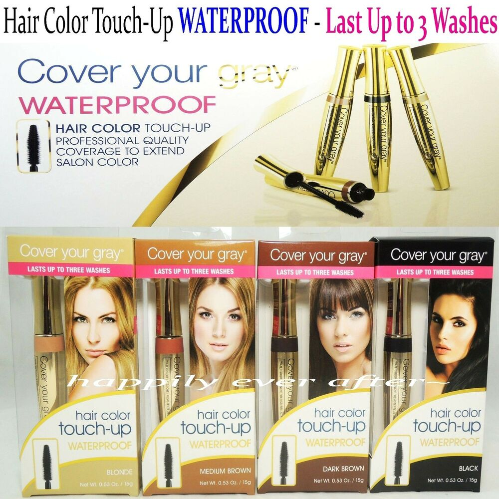 cover your gray waterproof professional quality hair touch up last up to 3 wash ebay. Black Bedroom Furniture Sets. Home Design Ideas