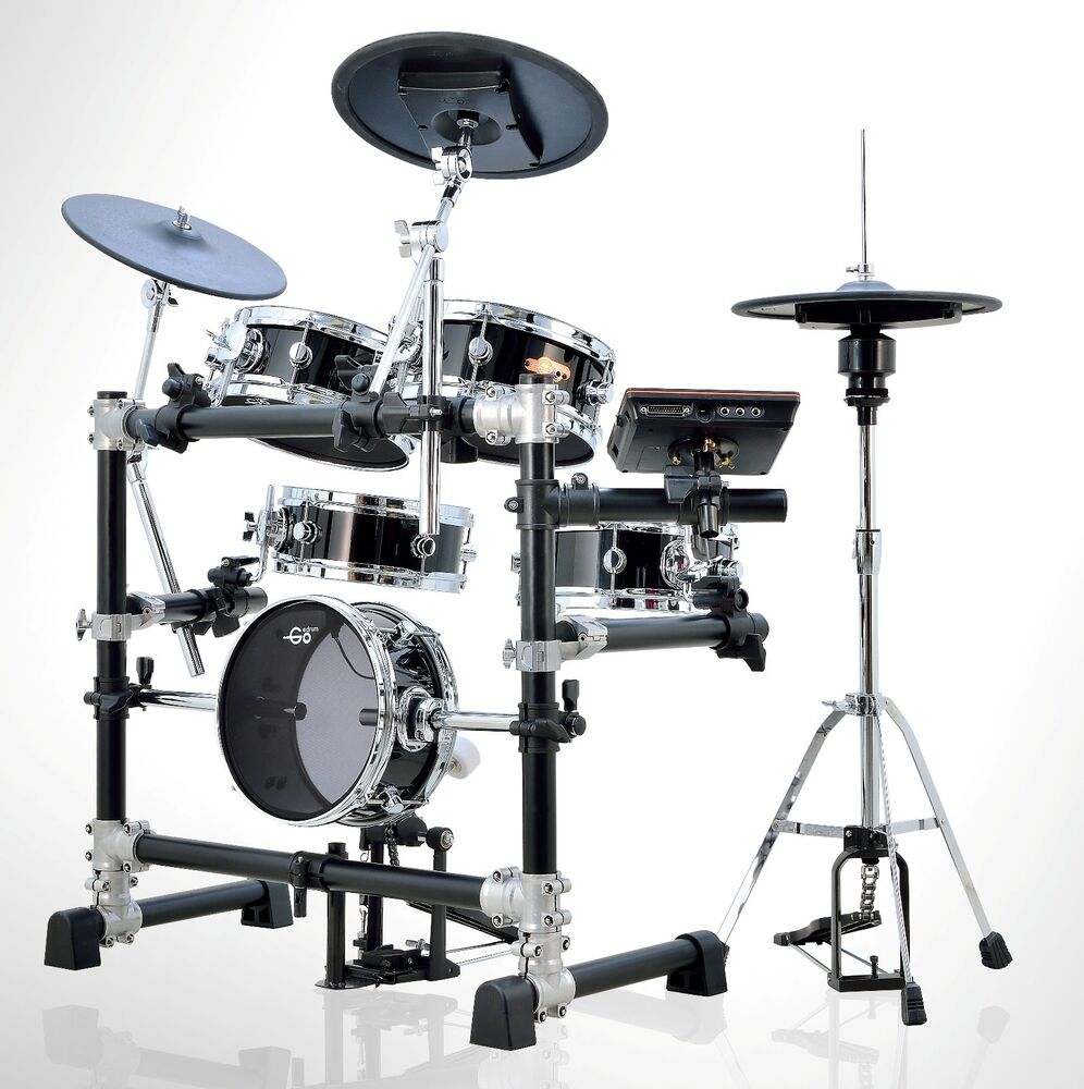 goedrum je6 electric drum set digital drum electronic drum edrums in black ebay. Black Bedroom Furniture Sets. Home Design Ideas