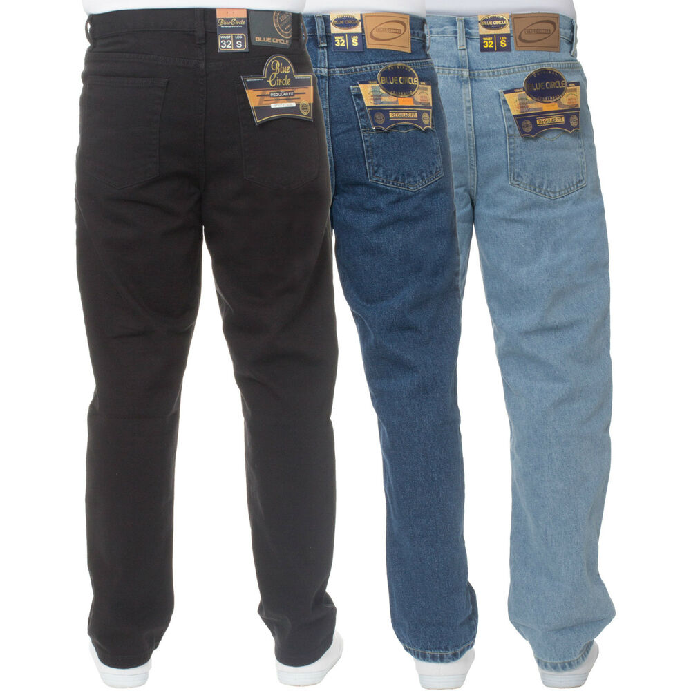 Men's big and tall jeans come in fashionable cuts and fits from brands you already know and trust. A pair of durable denim jeans fits in just as well at the jobsite paired with big and tall workwear as they do on a casual day at the office or while working around the house.