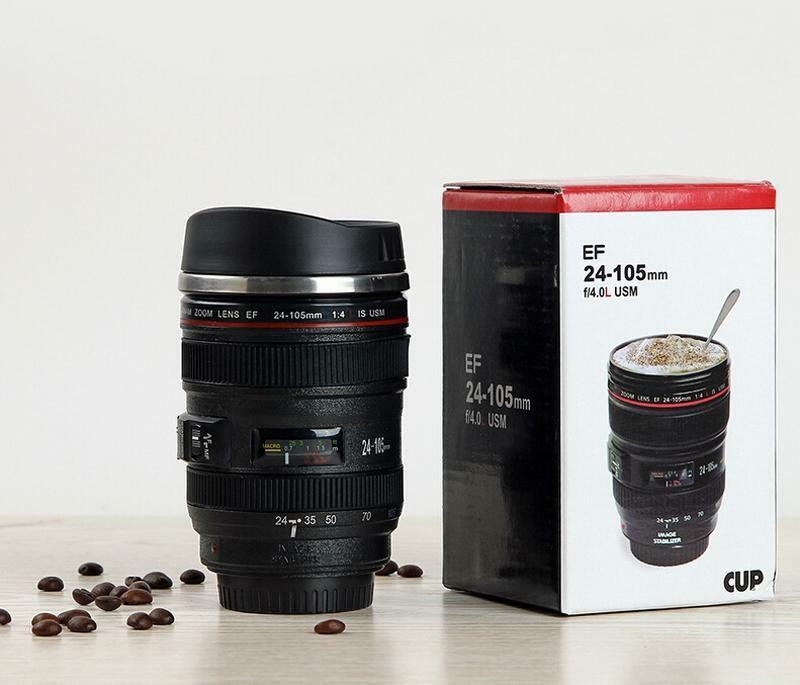 Black Canon Caniam Ef 24 105mm Camera Lens Thermos