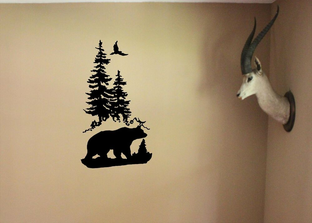 Wall Decal Hnt2 280 20 Quot X 36 Quot Bear Trees Wildlife Family