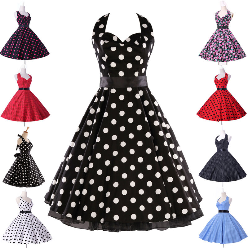 Cheap Vintage Retro Swing 50s pinup Housewife Dresses 9Style Plus ...