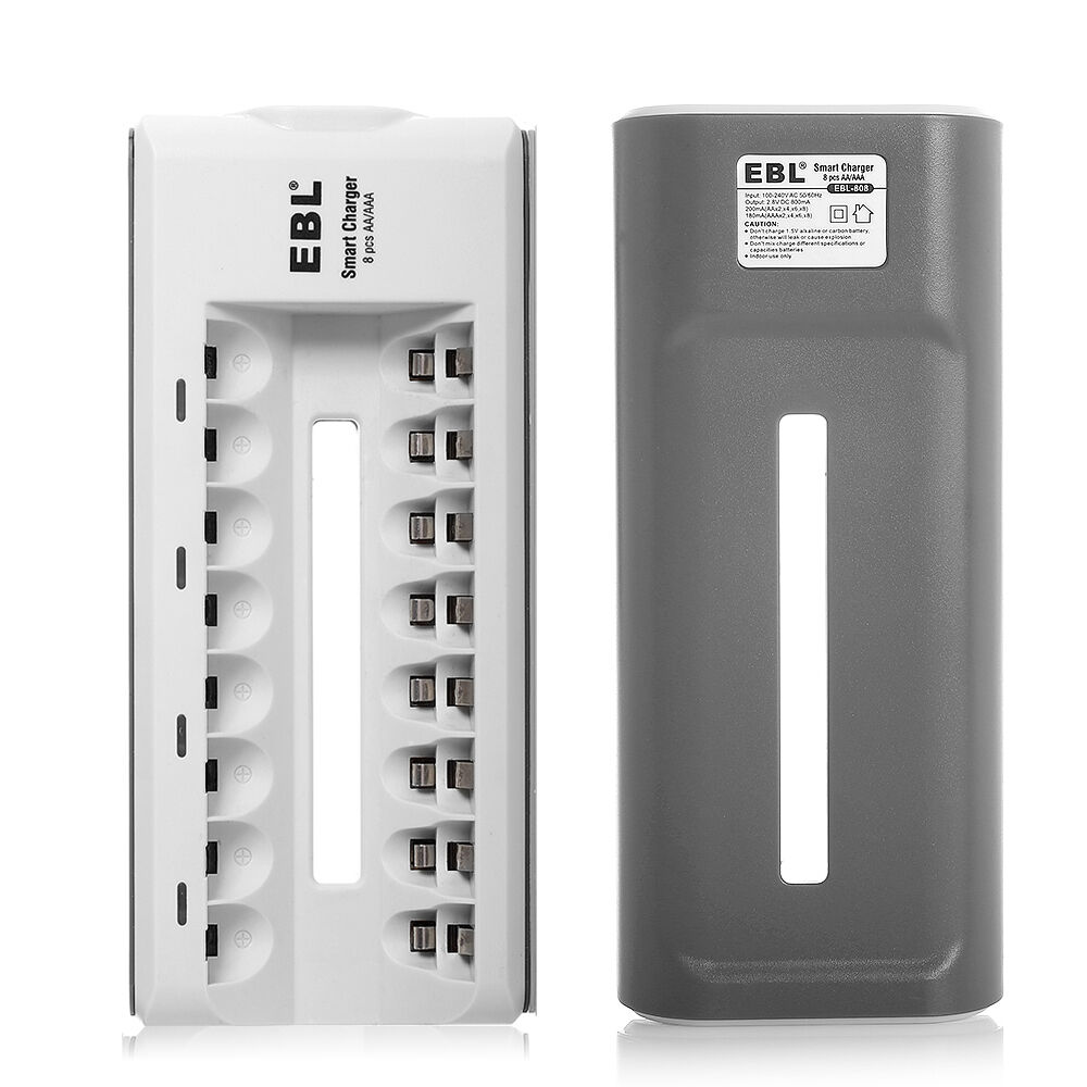 universal 8 slot battery charger for aaa aa nicd ni mh rechargeable batteries 747180908756 ebay. Black Bedroom Furniture Sets. Home Design Ideas