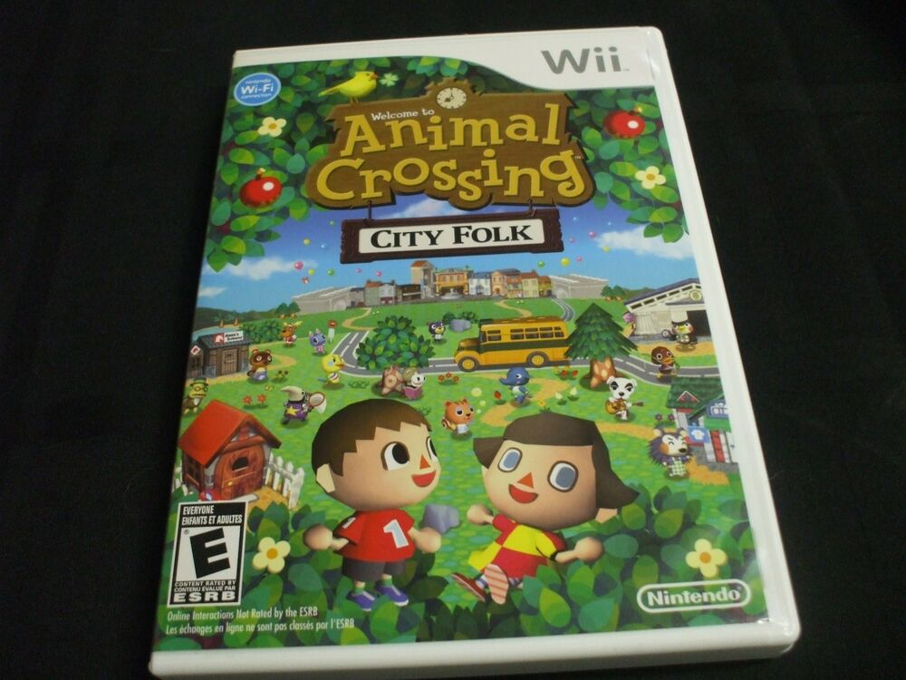 Replacement case no game welcome to animal crossing city for Agrandissement maison animal crossing wii