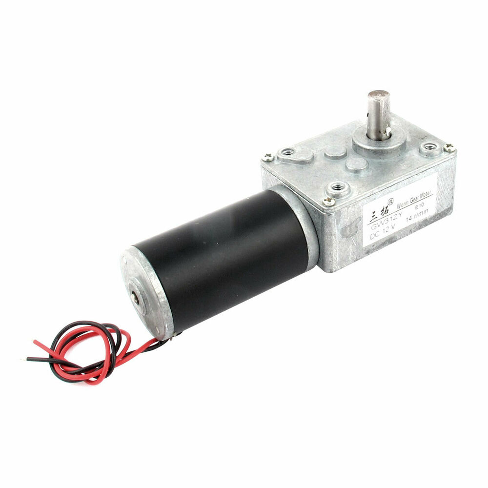 Dc 12v 14rpm high torque electric power speed reduce gear for High torque high speed dc motor