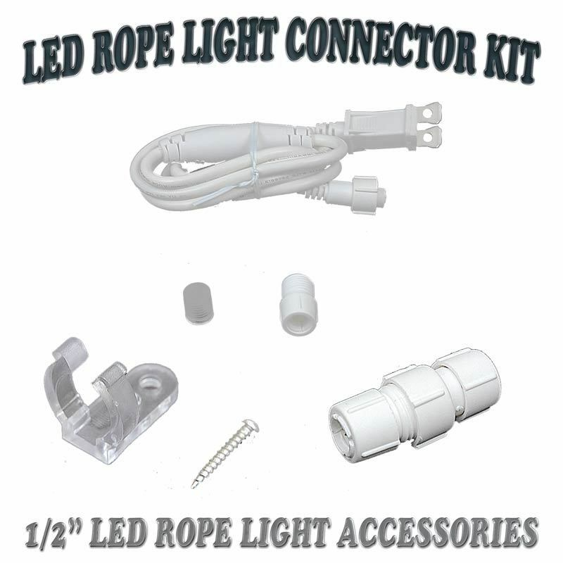 """Outdoor Lamp Wiring Kit: 1/2"""" LED Rope Light 2 Wire 110V Lighting Outdoor Christmas"""