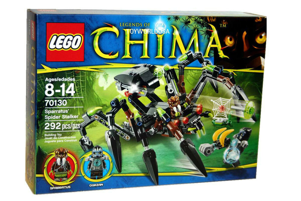 Lego CHIMA #70130 Sparratus' Spider Stalker Building Toy ...