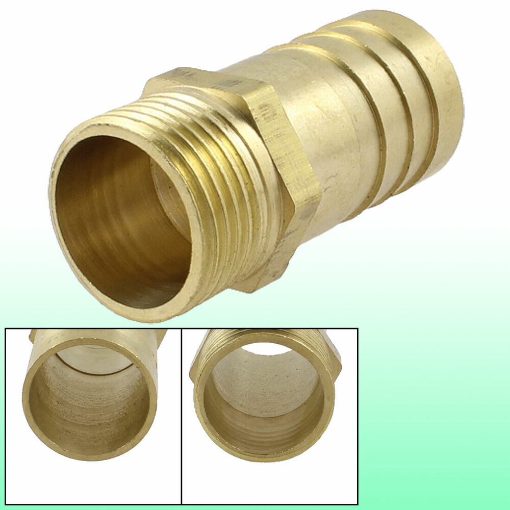 Quot pt thread mm air pneumatic hose barb fitting brass