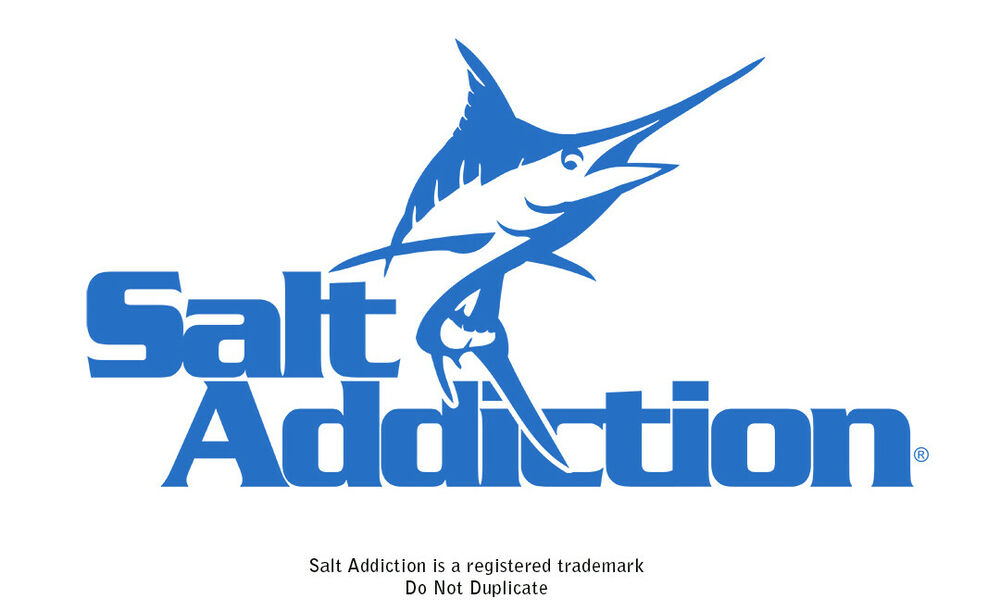 salt addiction marlin decal sticker saltwater fishing reel