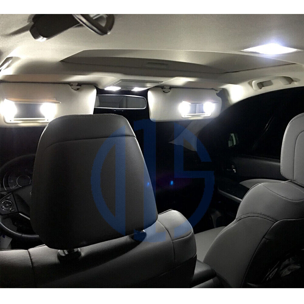 10x Blue Interior Led Lights Replacement Package Kit Fit: 10x White LED Interior Bulbs + License Plate Lights For