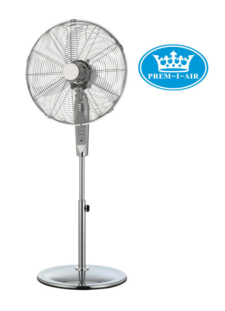 Prem I Air 16 Quot Inch Home Office Chrome Pedestal Fan With