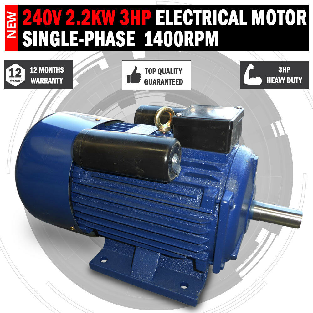 Single Phase Electricity : New v kw hp electric motor single phase rpm