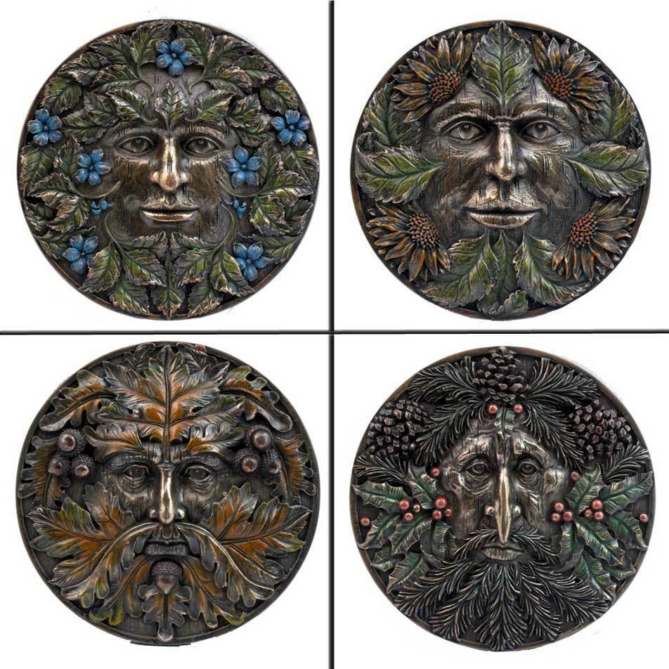 greenman wall plaque four seasons veronese studio