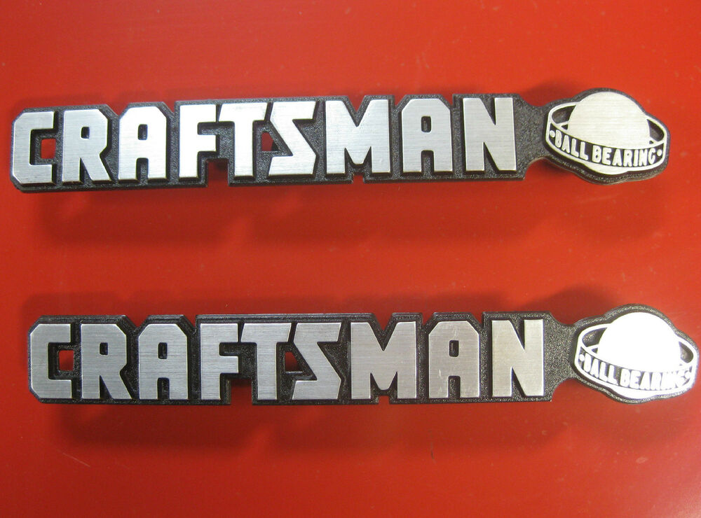2 Craftsman Quot Ball Bearing Quot Tool Box Badge Chest Cabinet