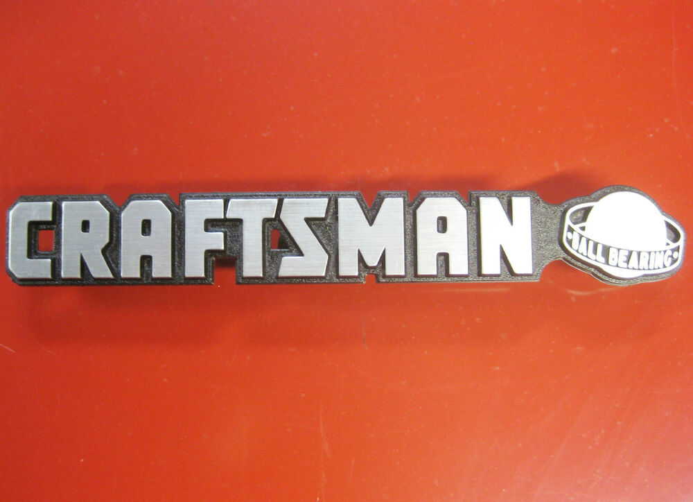 Craftsman Quot Ball Bearing Quot Tool Box Badge Chest Cabinet