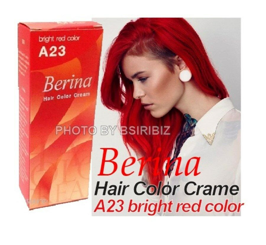 Berina No A23 Permanent Hair Dye Color Cream Fashion Color Bright