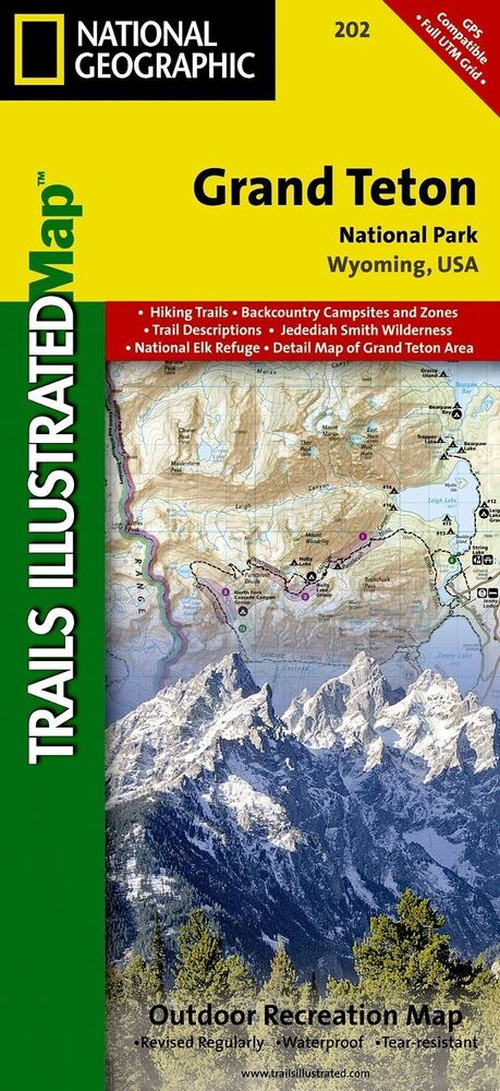 National Geographic Trails Illustrated Wyoming Grand Teton