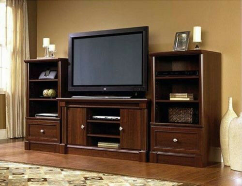 New Cherry Wood Entertainment Center Living Room Furniture