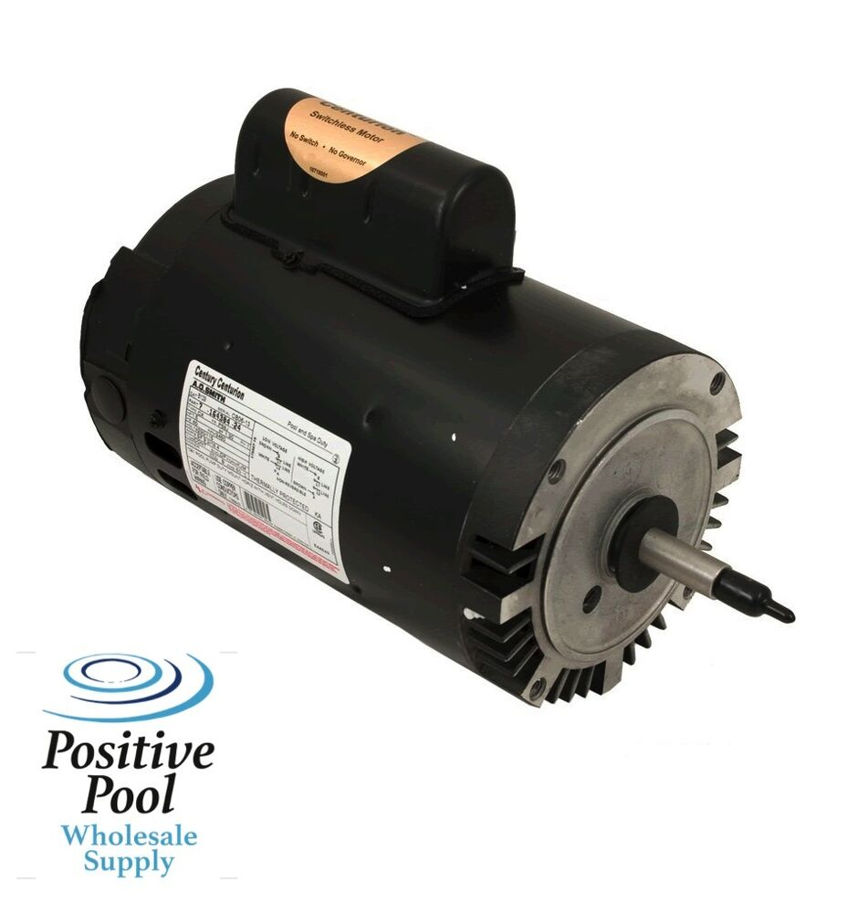 Ao smith century pool spa pump motor b128 1hp full rate 1 for Ao smith replacement motors