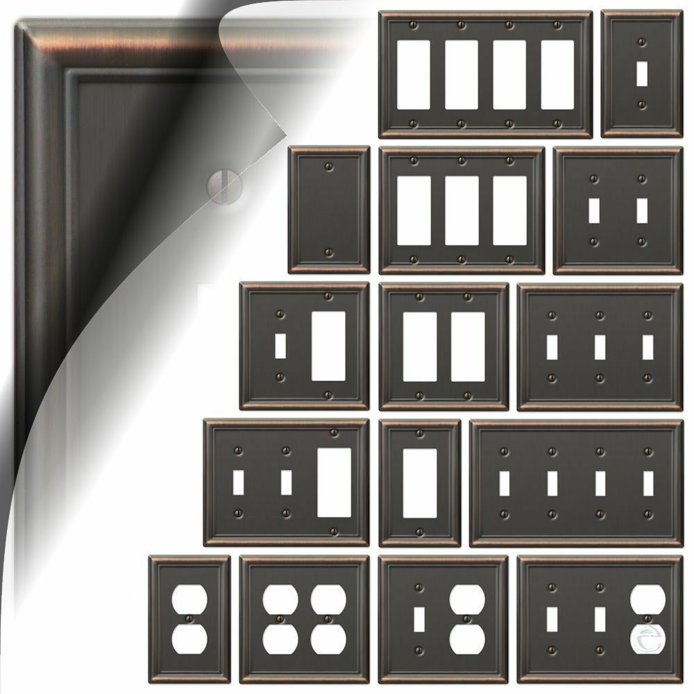 Decorative Wall Plates For Electrical Outlets : Wall switch plate cover chelsea aged bronze outlet toggle