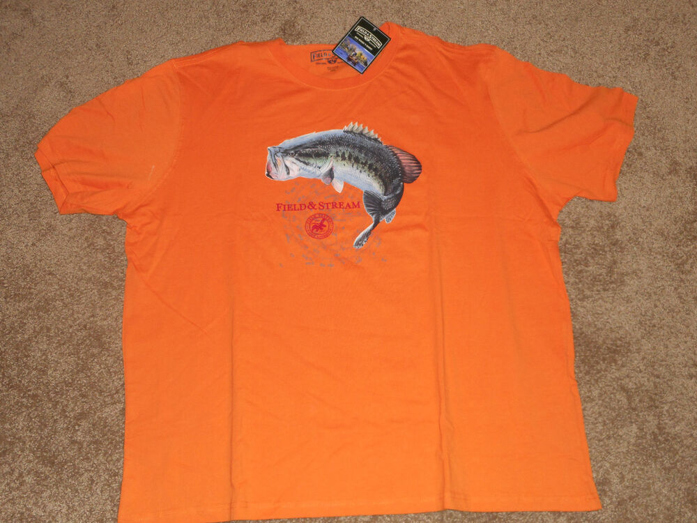 Nwt field and stream mens s s graphict shirt multiple for Field and stream fishing shirts
